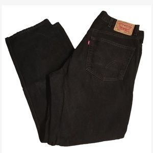 Levi's 550 Relaxed Fit 38x32 Black Jeans